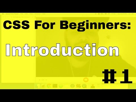 CSS3 Web Developers Tutorial for Beginners: #1 introduction to css