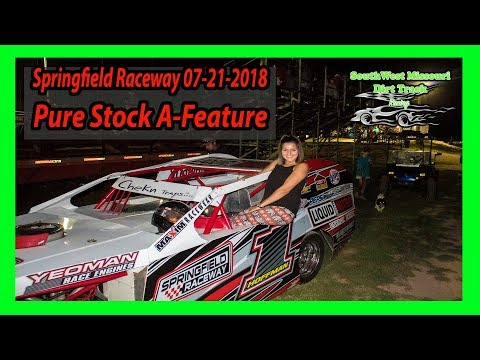 Pure Stock A-Feature - Springfield Raceway 07-21-2018