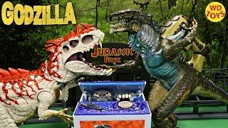 New Godzilla Movie Musical Monster  Piggy Bank TOMY Vs Indominus Rex Jurassic World Unboxing