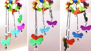 How to Make Wind Chimes out of Paper - Wall Hanging Craft With Paper - Home Decoration Idea