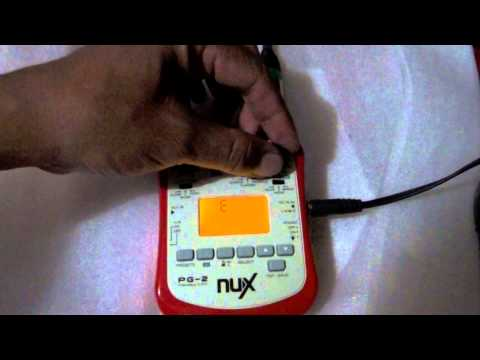 NU-X NUX PG-2 Portable Guitar Effects SIMPLE DEMO SOUND REVIEW