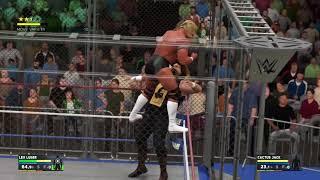 Lex Luger vs Cactus Jack (Epic Steel Cage Match)