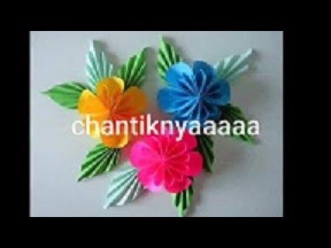 Kreasi Bunga Cantik Dari Kertas Lipat Youtube