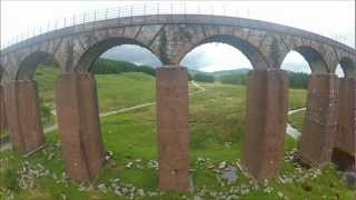 Big Water of Fleet Viaduct - FPV DJI450 Quadcopter - CopterControl - Dumfries & Galloway Scotland