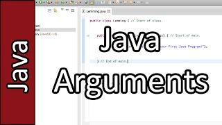 Arguments - Java Programming Tutorial #14 (PC / Mac 2015)