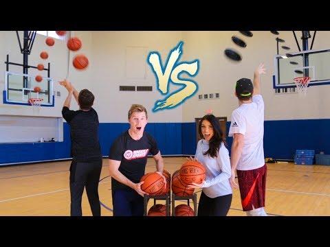 FRISBEE BASKETBALL BATTLE | Brodie & Kelsey
