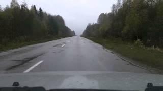 А-119 (Р-5) Вытегра - поворот на Солза, Каргополь(Ускоренное видео проезда по трассе А-119