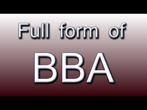 Full form of BBA
