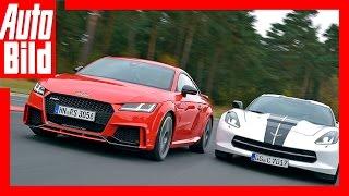 Audi TT RS vs Corvette C7 Stingray (2016) - Maßanzug gegen Muskelshirt - Test/Vergleich/Review