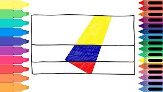 How to Draw Colombia Flag - Drawing the Colombian Flag - Coloring Pages for kids | Tanimated Toys