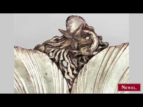 Antique Italian Venetian Grotto (19th Cent) silver gilt