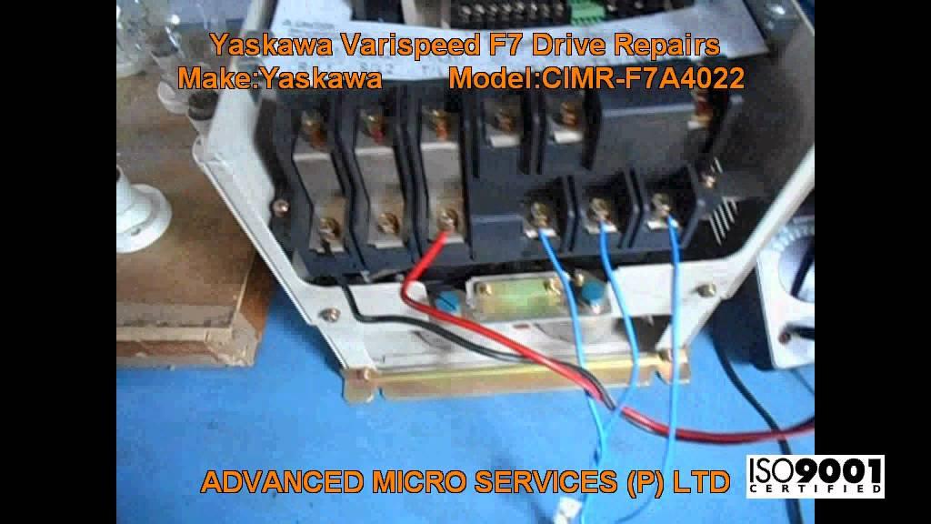 maxresdefault yaskawa cimr f7a4022 varispeed f7 drive repairs @ advanced micro yaskawa f7 wiring diagram at webbmarketing.co