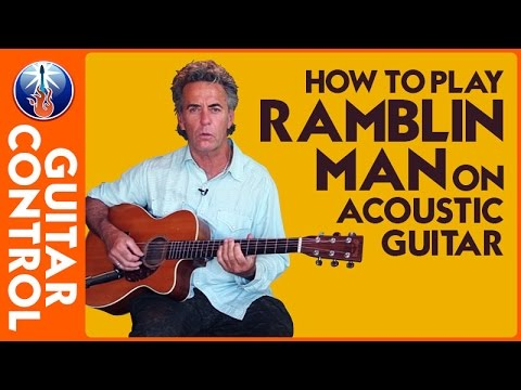 How to Play Ramblin Man on Acoustic Guitar - Jimmy Dillon Easy Strum
