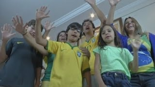 Six-fingered family believe extra digits will bring Brazil a World Cup win