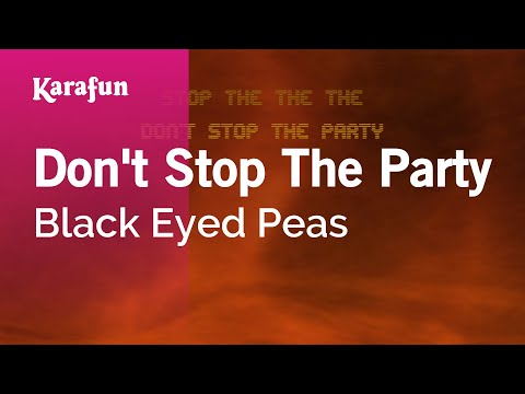 Karaoke Don't Stop The Party - Black Eyed Peas *