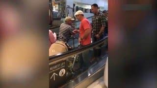 видео приколы на эскалаторах