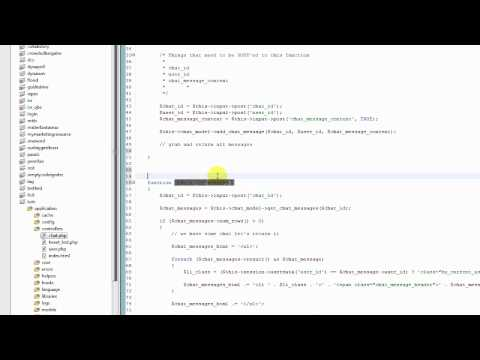 Part 4 - Codeigniter Tutorial - Creating A Web Chat App using JQuery AJAX