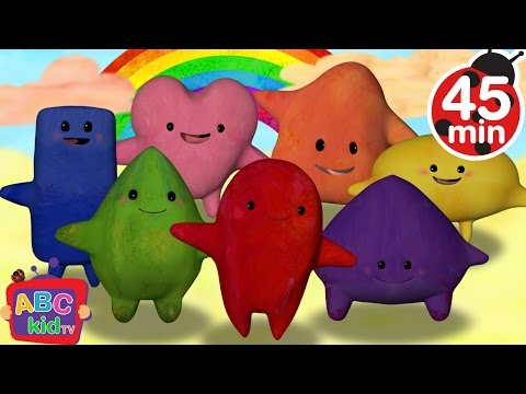 Color Songs Collection | Red, Orange, Yellow, Green, Blue, Purple, Pink - ABCkidTV