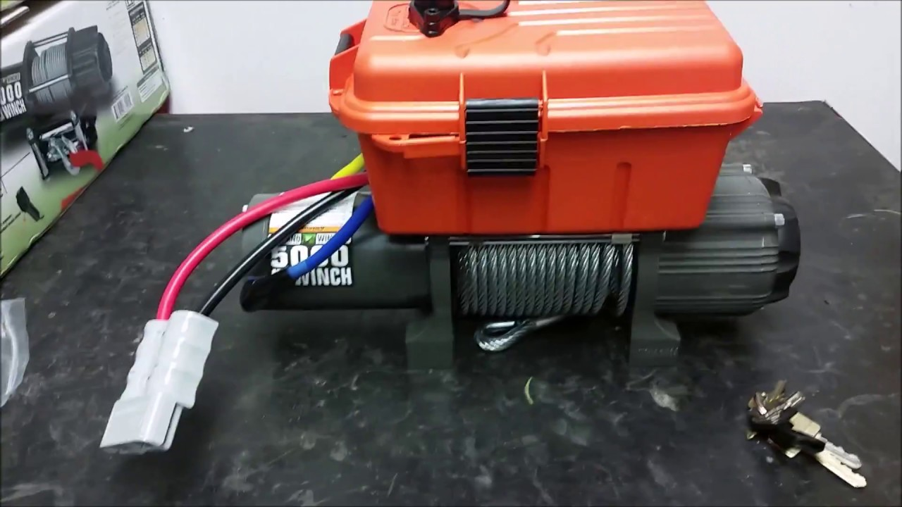 Harbor Freight Winch Project Wiring Mounting And Hook Up Youtube Chicago Electric Diagram