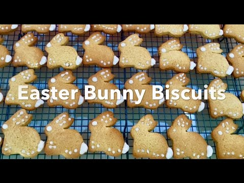EASTER BUNNY BISCUITS **Ginger & Cinnamon** Easy To Make!