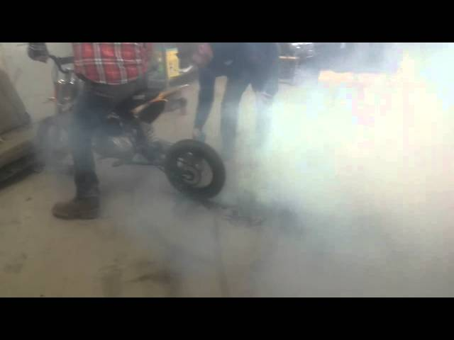 best Pit Bike burnout ever!