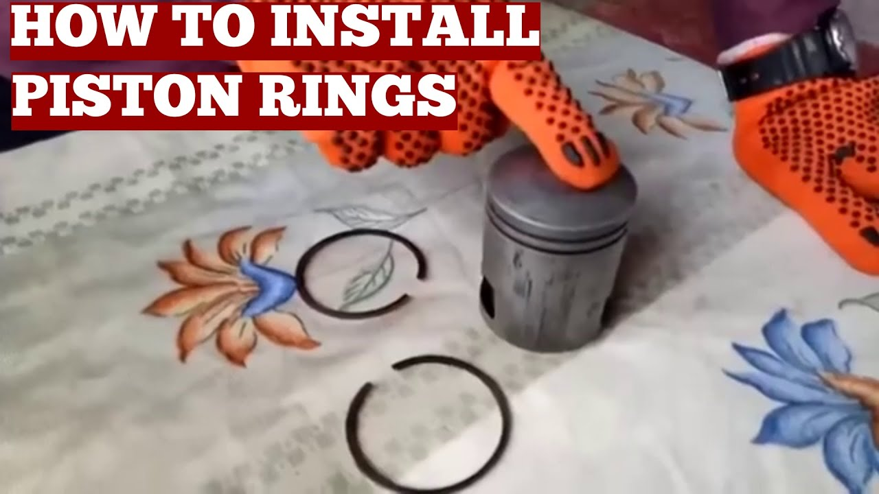 How To Install Piston Rings On A 2 Stroke Lambretta Scooter Lamby 150