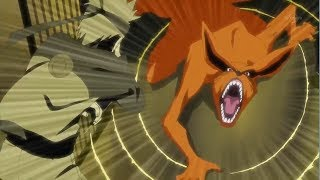 Naruto used Oodama Rasengan and Rasen-Shuriken to knock away the Kyuubi, Naruto Meets With Kushina
