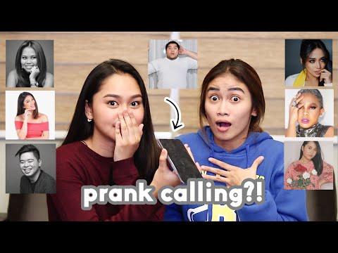 Prank Calling Filipino YouTubers w/ Pamela Swing!   ThatsBella