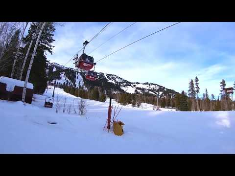 Jackson Hole Top To Bottom Run-- (No Stopping)