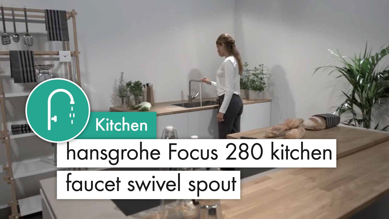 Hansgrohe Focus 280 Kitchen Mixer Swivel Spout Stainless Steel Optic