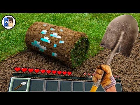 Minecraft in Real Life POV Realistic Texture 創世神第一人稱真人版