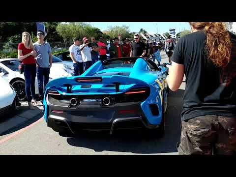 Mexico Blue Mclaren 675lt At Cars and Coffee Johannesburg South Africa
