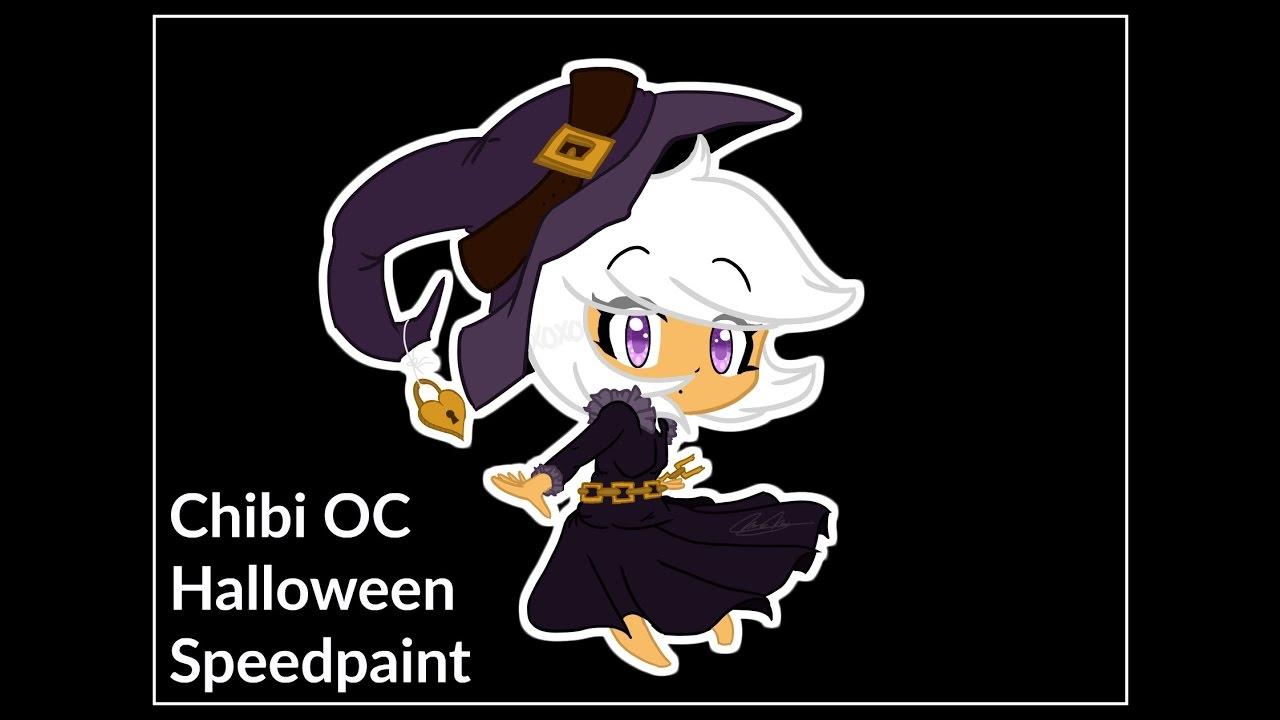 Download Fuzywuzy Draws - Halloween Chibi .:Speedpaint:.