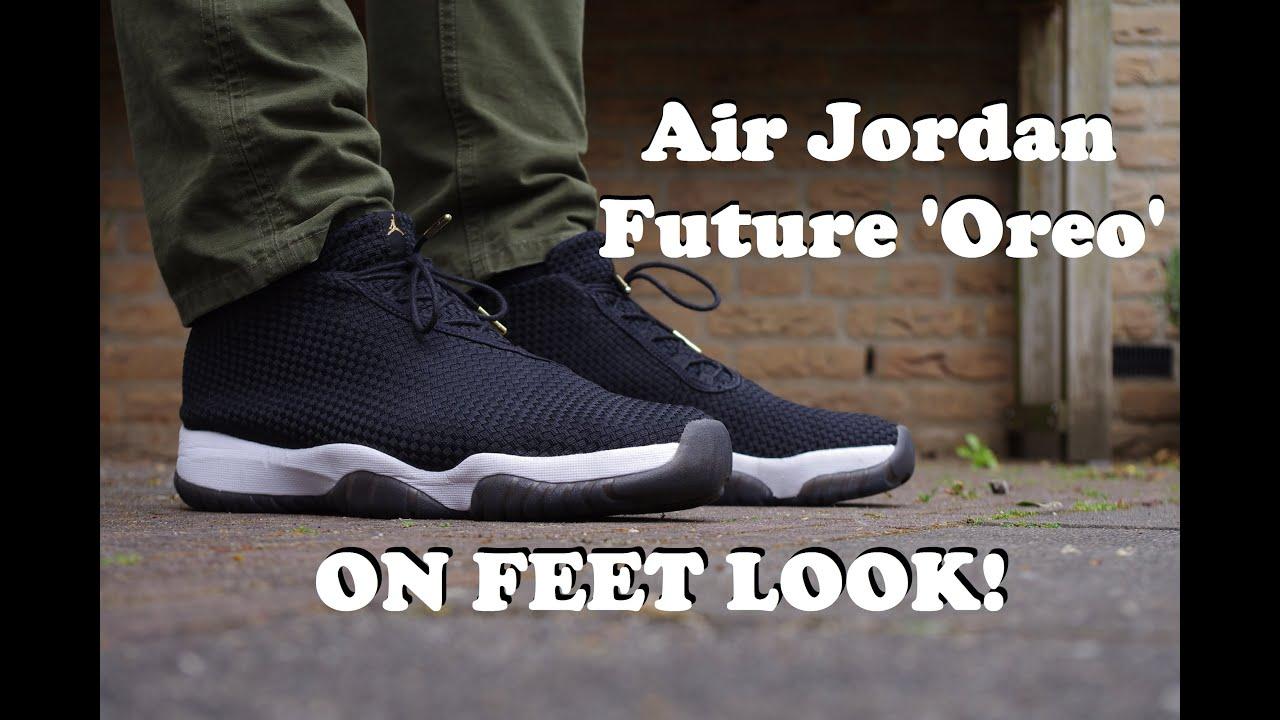 5f67c393ce18 ON FEET LOOK  Air Jordan Future  Oreo    Black   White - YouTube