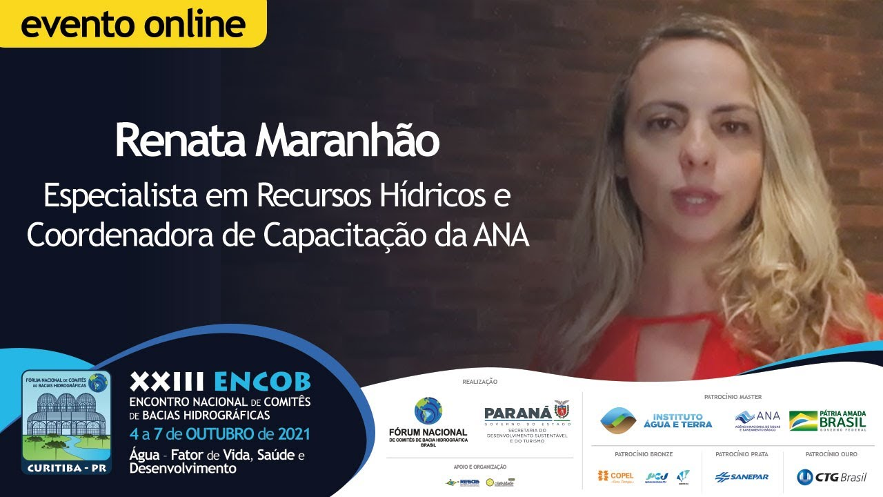 Renata Maranhão aborda a mesa de Educação Ambiental, Capacitação e Comunicação no ENCOB