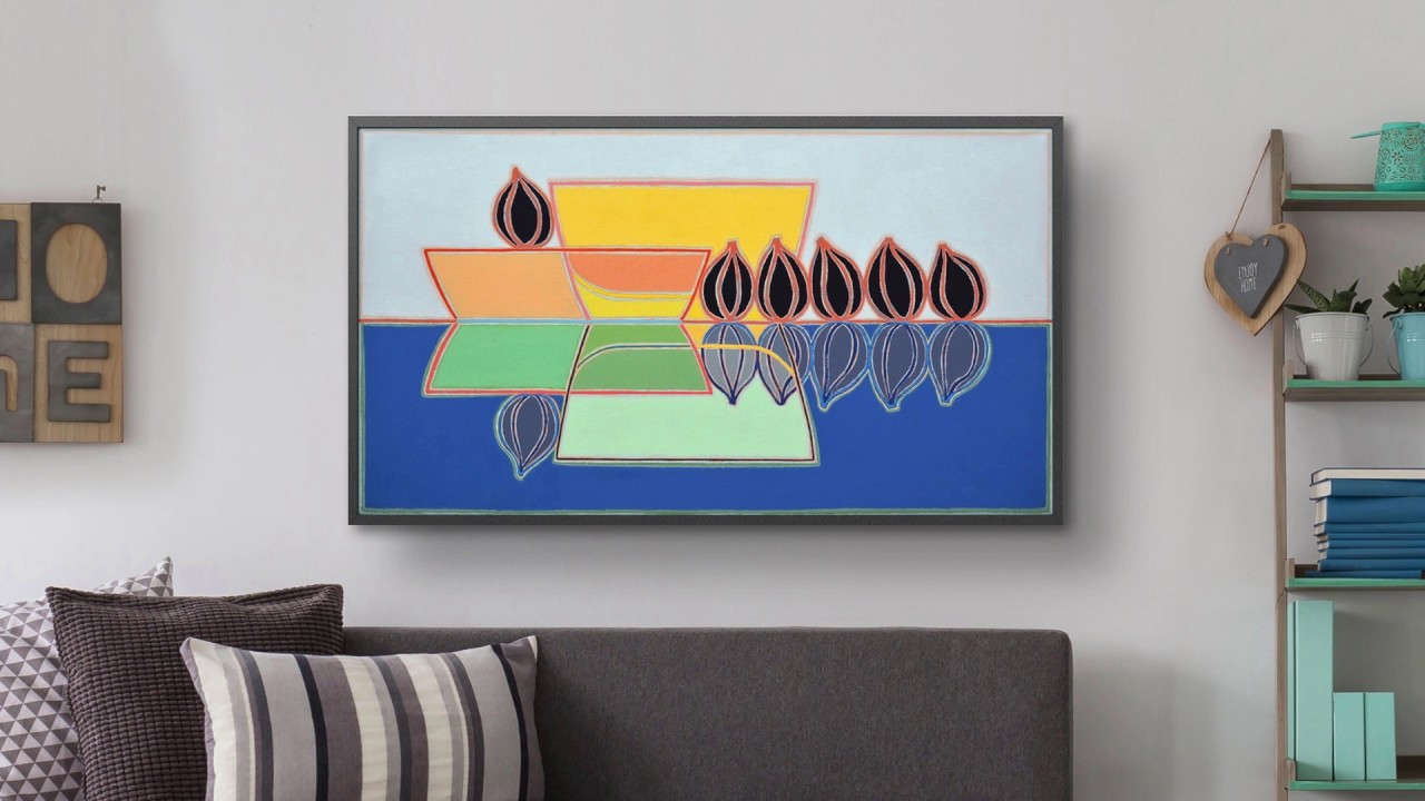 yves b har designs samsung television as a framed work of. Black Bedroom Furniture Sets. Home Design Ideas