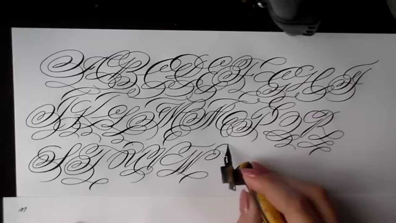 Extra Flourished Calligraphy Alphabet Capitals Youtube