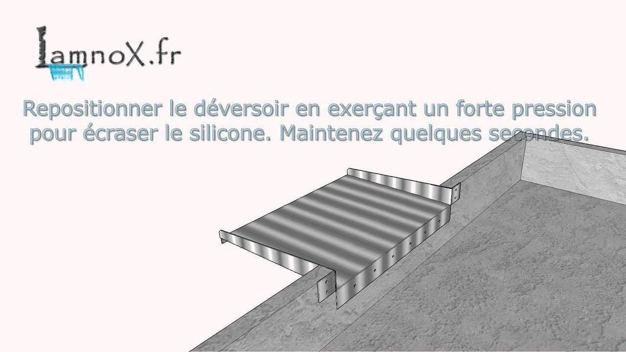comment poser fixer un d versoir inox avec languettes sur un bassin non b ch youtube. Black Bedroom Furniture Sets. Home Design Ideas