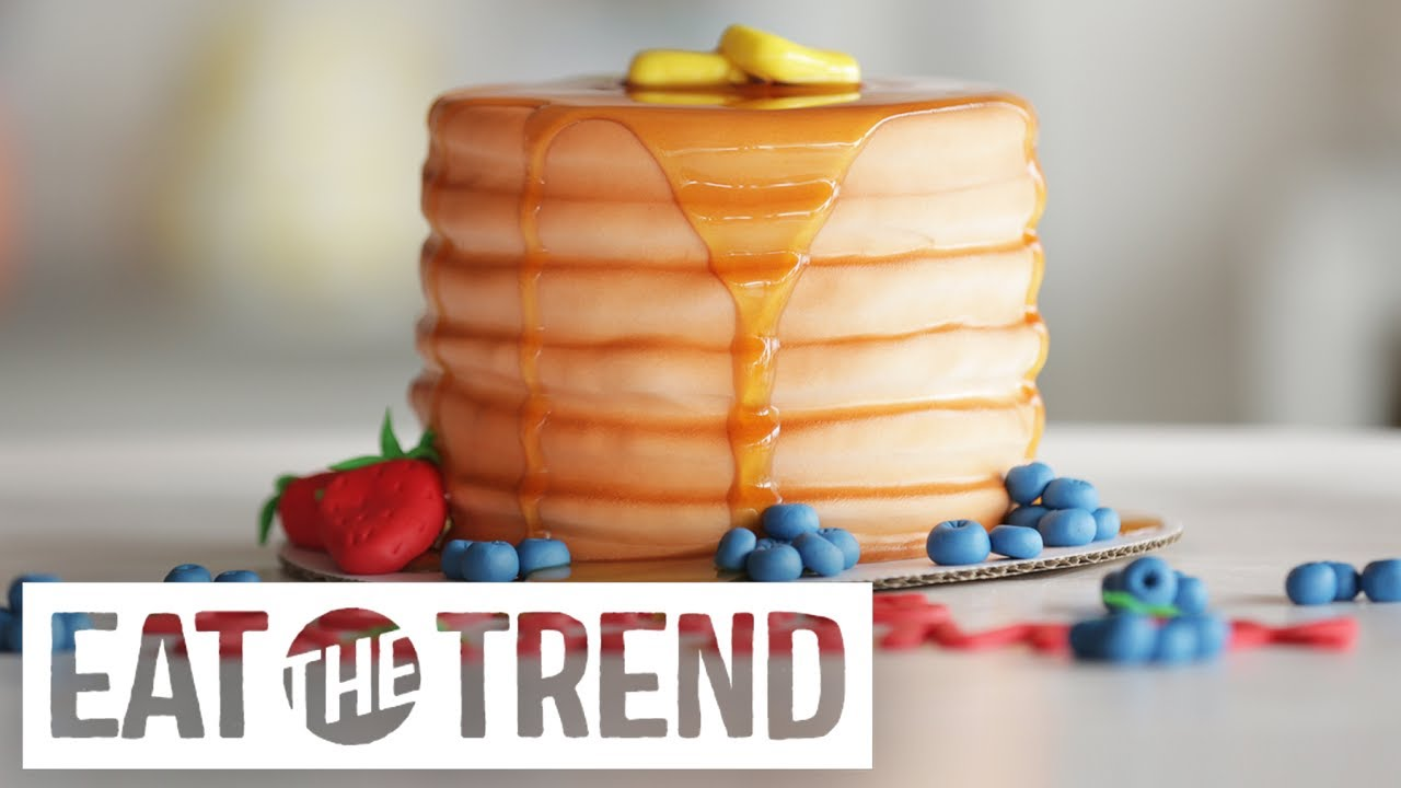 How To Make A Pancake Cake Eat The Trend Youtube