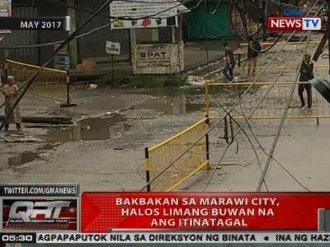 QRT: Bakbakan sa Marawi City, halos 5 buwan na ang itinatagal