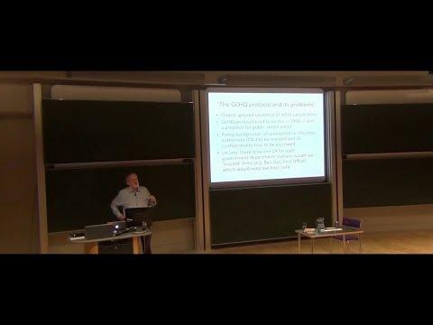 Ross Anderson FRS FREng  Keys Under Doormats. Cambridge University Mathematics Faculty. 7032017.