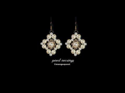 Pearl Earring Tutorial Fashion Jewelry DIY