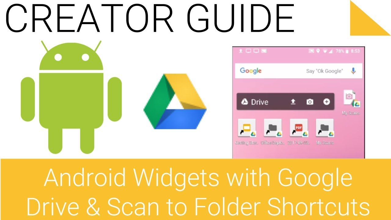 Create Google Drive Android Widgets and Shortcuts on Home Screen and How to  Turn Your Phone into a M