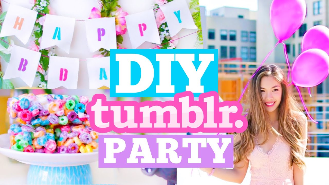 DIY Tumblr Birthday Party! Cute Decor Snacks u0026 Outfit Ideas! | MissTiffanyMa - YouTube  sc 1 st  YouTube & DIY Tumblr Birthday Party! Cute Decor Snacks u0026 Outfit Ideas ...