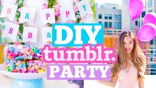 DIY Tumblr Birthday Party! Cute Decor, Snacks & Outfit Ideas! | MissTiffanyMa
