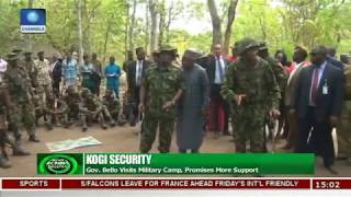 Kogi Security: Gov. Bello Visits Military Camp, Promises More Support