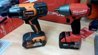 Milwaukee M18 Fuel vs. Ridgid Gen4X Impact Wrench Lag Bolt Face Off