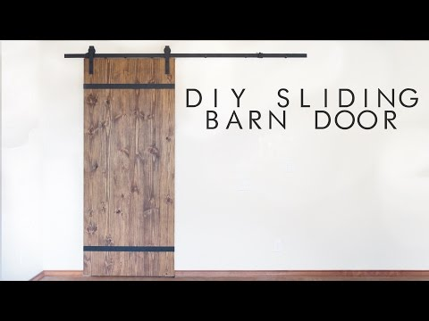 DIY Modern Sliding Barn Door | Modern Builds | EP. 43