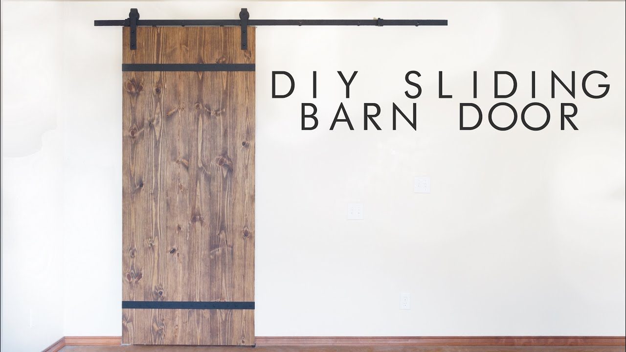 DIY Modern Sliding Barn Door | Modern Builds | EP. 43   YouTube