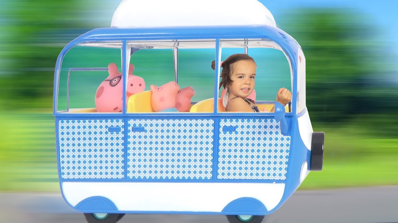 nouveau camping car et barbecue party avec la famille peppa pig d mo jouets youtube. Black Bedroom Furniture Sets. Home Design Ideas